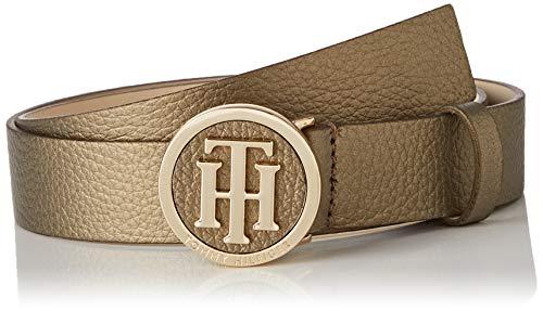 Tommy Hilfiger Damen Th Round Metallic Belt 3.0 Gürtel, Gold (Gold 0Hw), (Herstellergröße: 80)