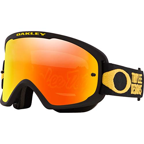 Oakley O Frame 2.0 PRO Men's Off-Road BMX Cycling Goggles - Troy Lee Designs Pinstripe Yellow/Fire Iridium/One Size