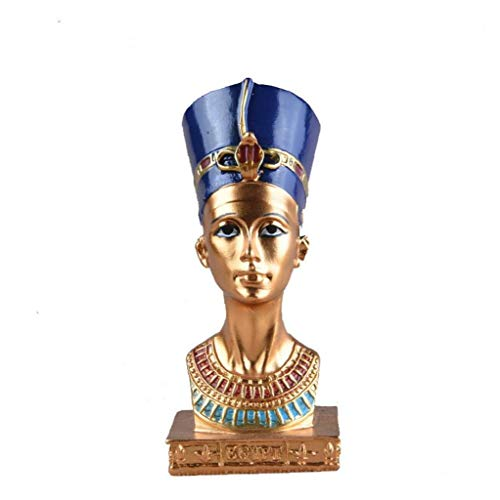 LAVALINK Egyptian Pharaoh Queen Sculpture Resin Glamorous Ancient Miniatures Ornament Figurine Home Decoration