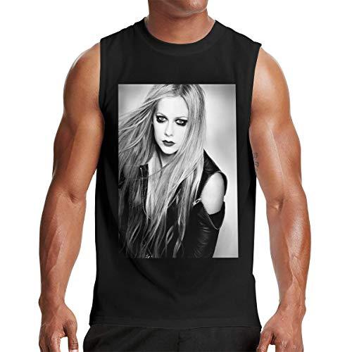 Mens Sleeveless Tshirts Man Avril Lavigne T Shirt Black