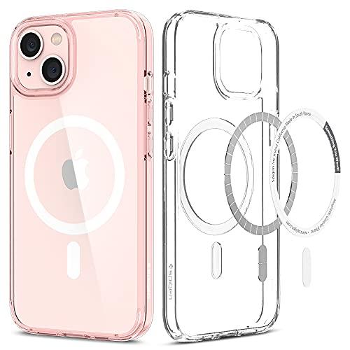 Spigen Cover Magnetico Ultra Hybrid Mag Compatibile con MagSafe e Compatibile con iPhone 13 - Cristallo rosa