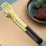 YHSW Pinzas para Alimentos,Pinzas Pan de Acero Inoxidable Cocina/Alimentos Barbacoa vajilla Espaguetis,utilizadas Barbacoa,Ensalada,Buffet (23,5 cm * 4,5 28,5 cm)