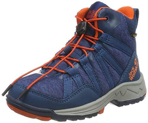 Jack Wolfskin Unisex-Kinder Thunderbolt Texapore MID K Wasserdicht Trekking- & Wanderstiefel, Blau (Blue/Orange 1174), 35 EU
