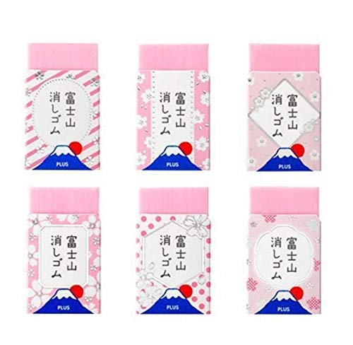 【限定】プラス エアイン 富士山消しゴム 桜6柄コンプリートセット
