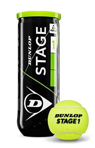 Dunlop Stage 3 Tennisbälle, Grün (Schwarz), 1size