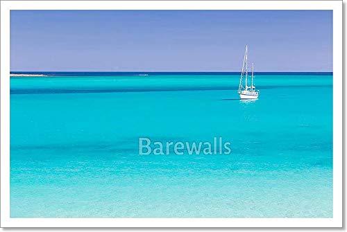Barewalls Pelosa Beach, Sardinia, Italy. Paper Print Wall Art (12in. x 18in.)