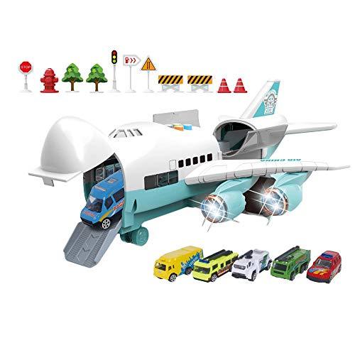 Aeroplani Giocattolo per Bambini - Giocattolo per aeromodelli - Set Modello Musica Traccia Inerzia Simulazione Modello di Aereo Giocattolo per passeggeri Passeggero Giocattolo Ragazzo Regalo