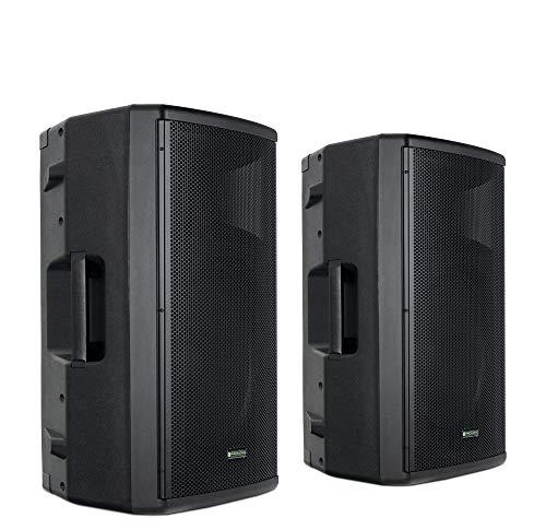 Pronomic E-212 MA Stereo Set - 2 aktive 2-Wege Boxen - Leistung: 2x 120 Watt (RMS) - 12