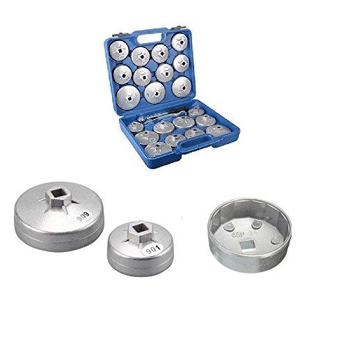 SHIOUCY Ölfilterschlüssel Set 23 Stück Ölfilterschlüssel Ölfilter, Ölfilter, Werkzeug für Druckguss,