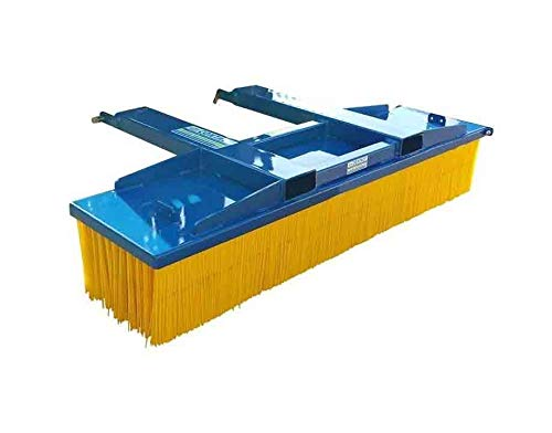 Forklift Heavy Duty Push Broom Yard Sweeper. Suitable For Forklifts & Telehandlers. 1800mm Wide Sweeping Width - Fork Mounted Brush