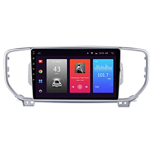 WHL.HH Coche GPS Navegación 10 Pulgadas Pantalla táctil Cabeza Unidad Multimedia Jugador Marcha atrás Imagen 4G WiFi Bluetooth para Sportage Kx5 2015-2018 Estéreo Radio Androide Sistema,S1