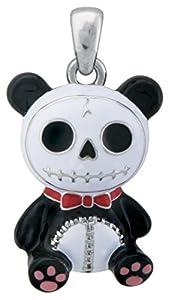 Furry Bones Skull Black Panda Bear Pandie Pendant Jewelry Accessory