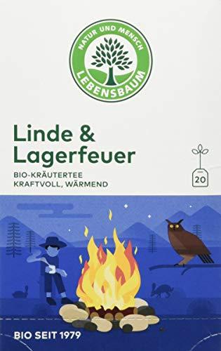 Lebensbaum, Bio Kräutertee Linde und Lagerfeuer, Kräutermischungen, 90 gramm, Pack of 3