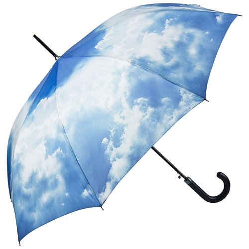 VON LILIENFELD Regenschirm Automatik Damen Herren Wolke Motiv Hamburger Himmel, L88/D100, Blau