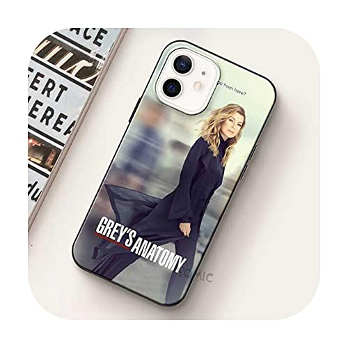 Greys - Carcasa blanda para iPhone 12 Mini 11 Pro Max Xr Xs X 7 8 Plus Se para iPhone Xsmax Silicone Phone Shell-B15-para iPhone Se 2020