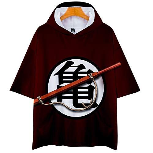Dragon Ball Goku Vegeta 3D Impresión Anime Hoodie T-Shirt Cosplay Manga Corta Camiseta Verano Pullover Tops Sudadera Con Capucha XS