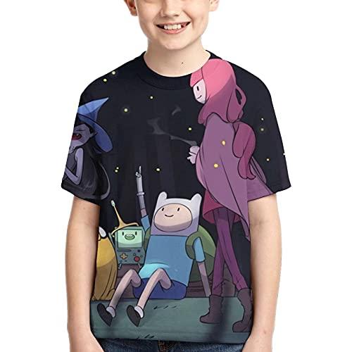 Hdadwy Camiseta para niños Camiseta Adventure TV Time Camiseta Tops Camiseta con Estampado 3D para niños y niñas