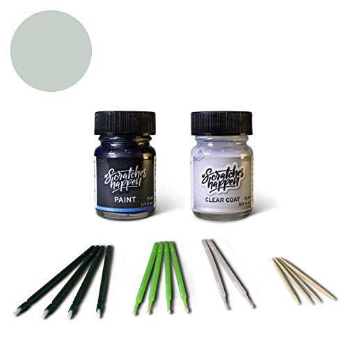 ScratchesHappen Exact-Match Touch Up Paint Kit Compatibel met General Motors Essential Switchblade Silver (WA636R/17/GAN)