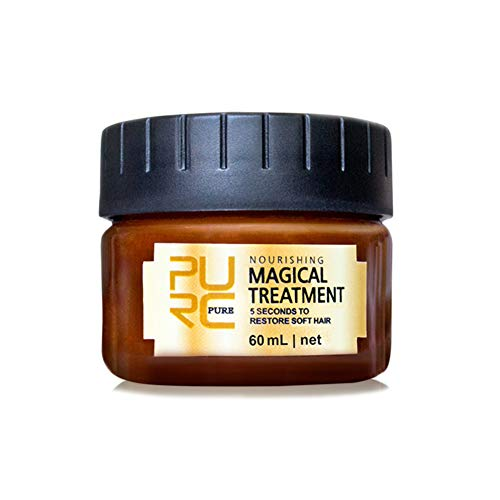 PURC Magical Hair Treatment Mask 5 Seconds Repairs Damage Restore Soft Hair 60ml For All Hair Types Keratin Hair & Scalp Treatment