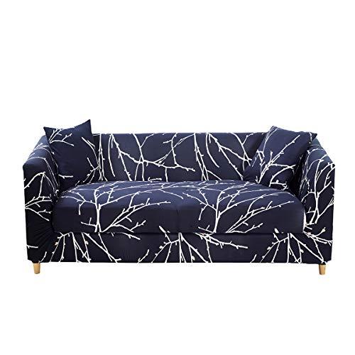 ENZER Copridivano Elasticizzato 1 2 3 4 posti Universale Antiscivolo Sofa Divano di Protezione Floreale Completamente Avvolto Fodera per Divano
