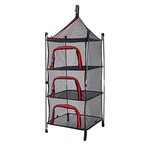 Red De Secado Al Aire Libre Portátil De 4 Capas Basking Basking Camping Mesh Rack Red