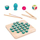 Sue Supply Magnetisches hölzernes Angelspiel Game with Fishing Rod Toy Fishing Game Pädagogisches...