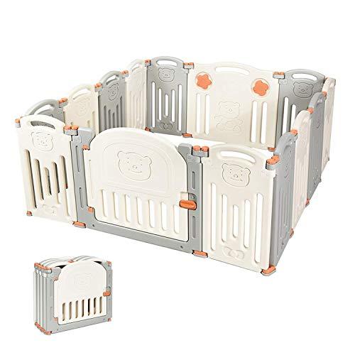 Kidsclub Baby 14 Panel Laufstall Aktivitätscenter Sicherheitsspielplatz Faltbarer tragbarer HDPE Indoor Outdoor Playards Zaun
