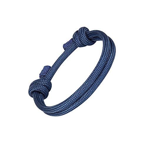 LA FALCONI Jewellery Pulsera de Cuerda Napoli en Azul Oscuro, Pulsera Noble para Hombres y Mujeres, Pulsera Unisex Cuerda