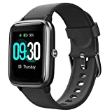 Vaoyao Smart Watch for Android/Samsung/iPhone, Activity Fitness Tracker with IP68 Waterproof for Men & Women, Smartwatch with 1.3' Full-Touch Color Screen, Heart Rate & Sleep Monitor, Black