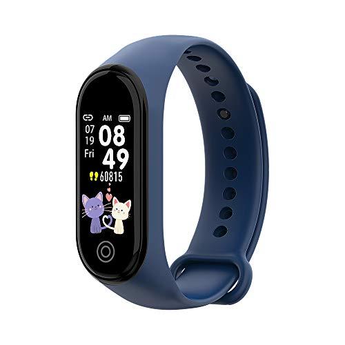 Fesjoy Pulsera inteligente portátil BT4.0 Smart Bracelet impermeable IP67, movimiento de apoyo, rastro de movimiento, monitor de frecuencia cardíaca, información, azul