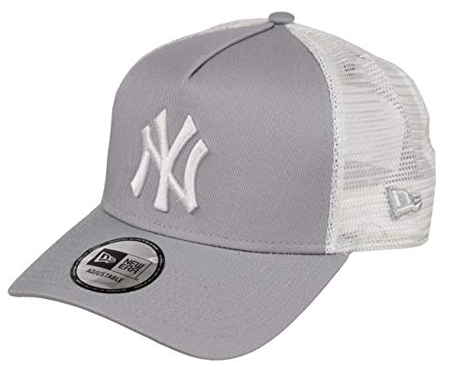 New Era York Yankees Frame Adjustable Trucker Cap Clean Grey/White - One-Size