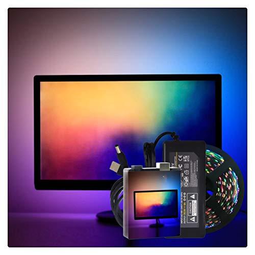 RongWang Easy DIY Ambient Computer Desktop PC Pantalla Iluminación de Fondo RGB USB WS2812B Tira de luz LED 1M 2M 3M 4M 5M Kit Completo (Color : 30leds per Meter, Size : 1m Kit)