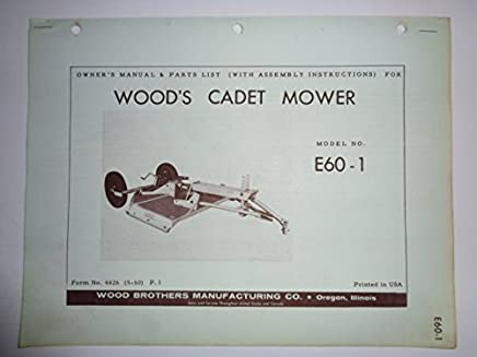 Woods Mower Owner Manual Books