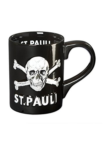 FC St. Pauli 3D Totenkopf Tasse Kaffeebecher Mug (schwarz, one Size)