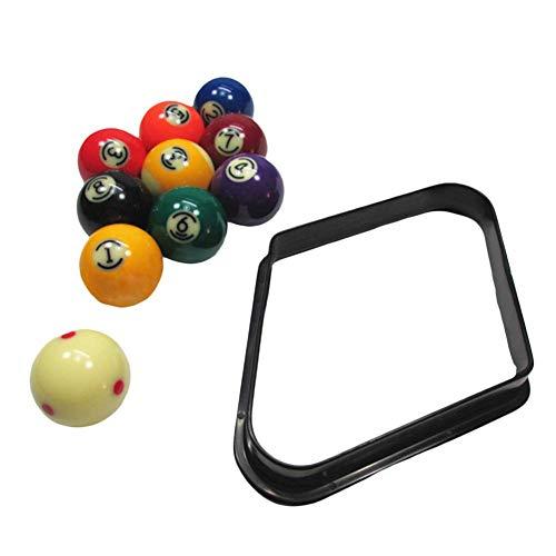 libelyef Kunststoff Dreieck Für Snooker/Pool, Billard Stativ Ball Rack Swing Ball Halter Mit Verstärkten Abgerundeten Kanten 8/9 Ball Billard Ball Box - Billardtisch Zubehör