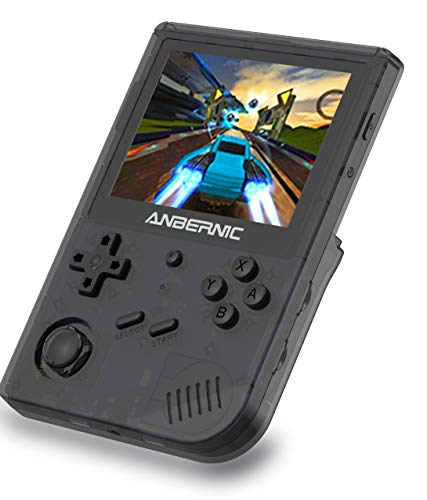 Anbernic RG351V Console di Giochi Portatile , Console di Giochi Retro OpenDingux Tony System WiFi Online Sparring , Built-in 64G TF Card 2500 Classic Giochi Support PSP / PS1 / N64 / NDS (Black)