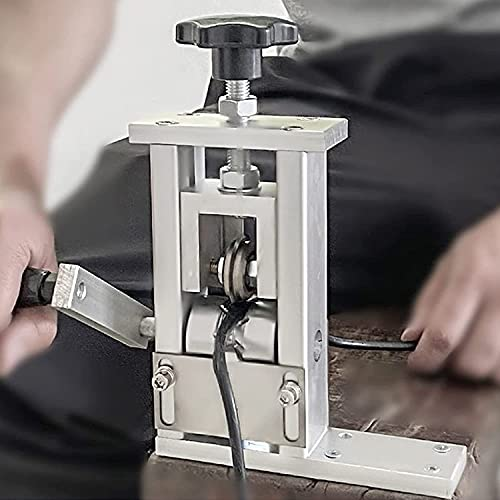 FCPLLTR Máquina de peladura del cable de chatarra Máquina de pelado de alambre electricista 1-24 mm (1-100 cuadrado) Enchufe especial de alambre auxiliar Puede conectarse Tallado eléctrico Herramienta