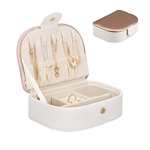 MMYYY Jewellery Box Organiser for Women, Travel Jewellery Organiserpu Leather Jewelry Storage Case,Portable Jewelry Box Necklace Storage Box, Large Capacity Earrings Earrings Ring Jewelry Box,A