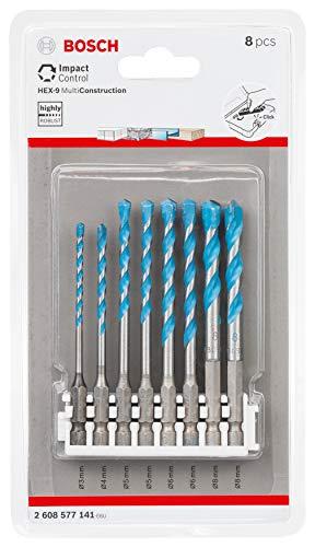 Bosch Professional 2608577141 8 TLG. Impact Control Mehrzweckbohrer Set (Pick and Click, HEX-9, Zubehör Schlagschrauber)