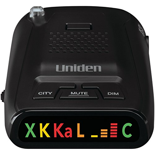 Uniden DFR1 Long Range Laser and Radar Detection, 360° Protection, City and Highway Modes, Easy-to-Read Color Icon Display with Signal Strength Meter Bars,Black