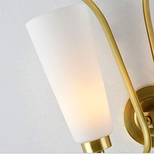 ZSAIMD Applique murale en cuivre Lampe de chevet de la chambre à coucher Simple étude nordique couloir Corridor (Taille : Single head)