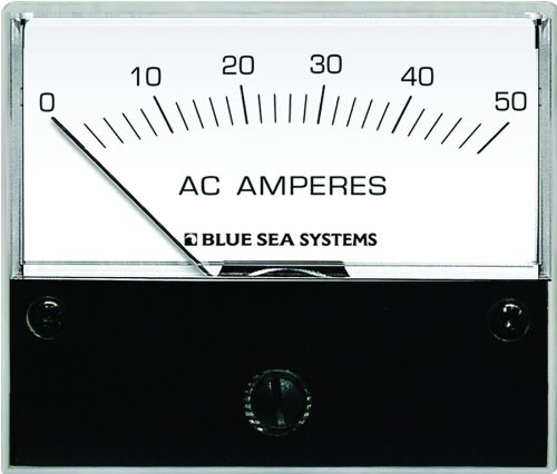 Blue Sea Systems 9630 AC Analog Ammeter (0-50 Amperes AC)