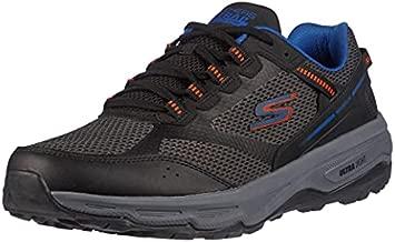 Skechers Men's Go Run Altitude - Trail Running Walking Hiking Shoe with Air Cooled Foam, Black/Orange, 12.5 X-Wide