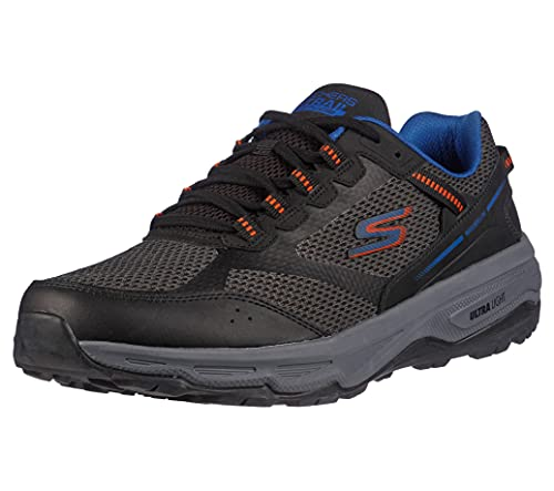 Skechers mens GOrun Trail Altitude - Performance Running & Hiking Trail Running,Black/Orange,7.5 M US