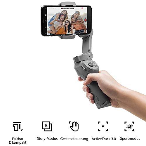 DJI Osmo Mobile 3 Prime Combo - 3-Achsen-Smartphonestabilisator mit Zubehörkit inkl. Care Refresh, kompatibel mit iPhone und Android, intelligente Steuerung mit Stativ - 4