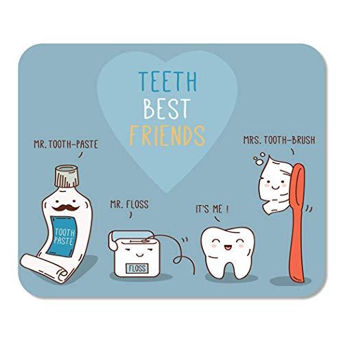Mousepad Notizblock Büro-Zahn-Beste Freund-Zahnpasta-Zahnbürste und Glasschlacke zahnmedizinisch für Kinderzahnheilkundeausgangsschule