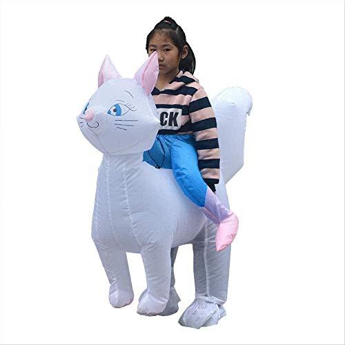 Mdcgok DHTOMC, Disfraz de Dibujos Animados para nios de Halloween, Ropa Inflable, Disfraz de Montar para muecas, Disfraz de Gato Bonito para actuacin, Disfraz para nios