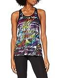 ARENA Camiseta de Tirantes para Mujer Gym Solid, Mujer, Camiseta de Tirantes, 000934, Iridescent Stripe-Black, Large