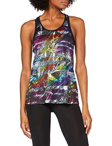 ARENA Camiseta de Tirantes para Mujer, Mujer, Camiseta de Tirantes, 000934, Iridescent Stripe-Black, Medium