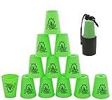 Stacks Bicchieri 12 Pezzi, Sport impilabili Tazze per allenamento gioco velocità sfida competizione Party (Verde)